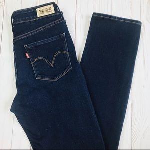 Levi's Mid Rise Skinny Dark Wash Jean